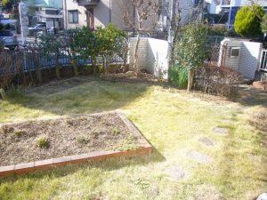 広々したお庭