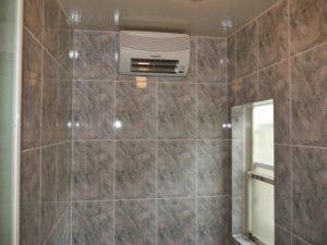 浴室暖房付きです