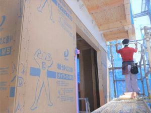 9/19 外壁工事中です
