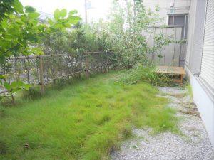 南側に面した広々したお庭