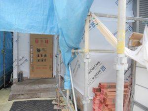 9/23 外壁防湿シート工事完了しました