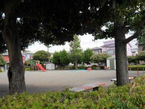 目の前の公園